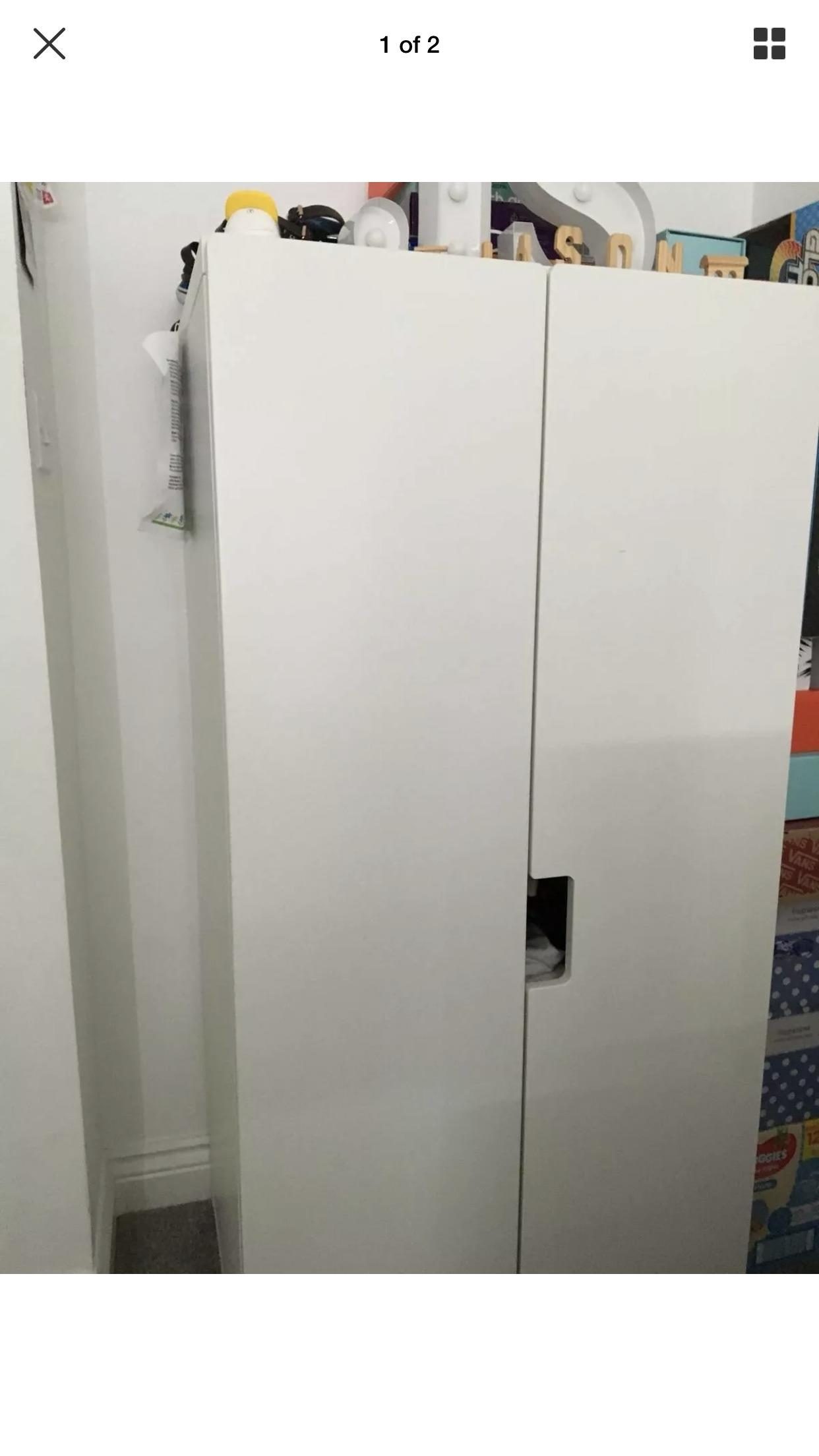 new style 929ce 13878 Ikea baby/toddler wardrobe with partitions in Dartford ...