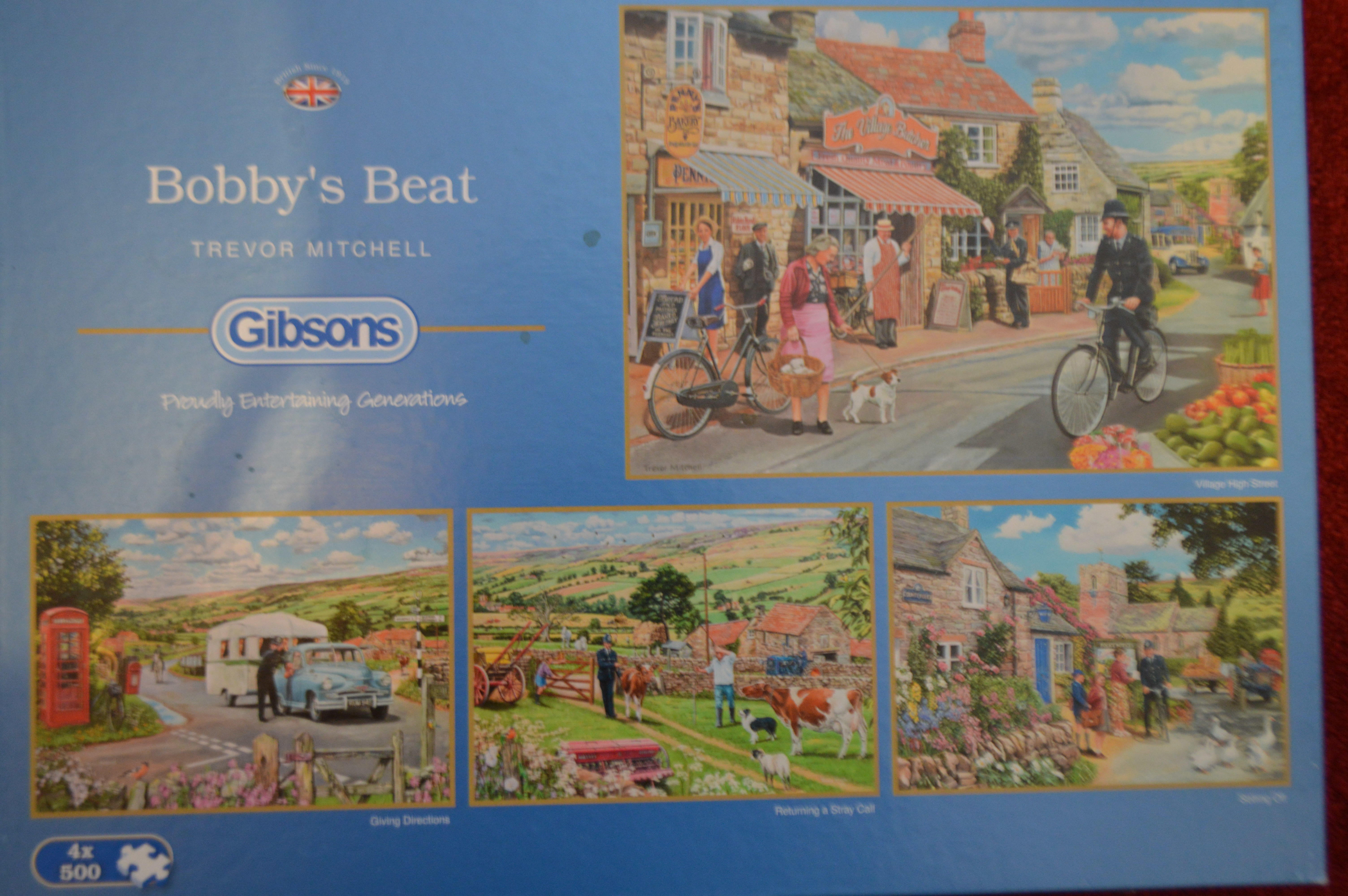 NEW Gibsons The Gardeners Round by Trevor Mitchell 4 x 500 piece jigsaw puzzles
