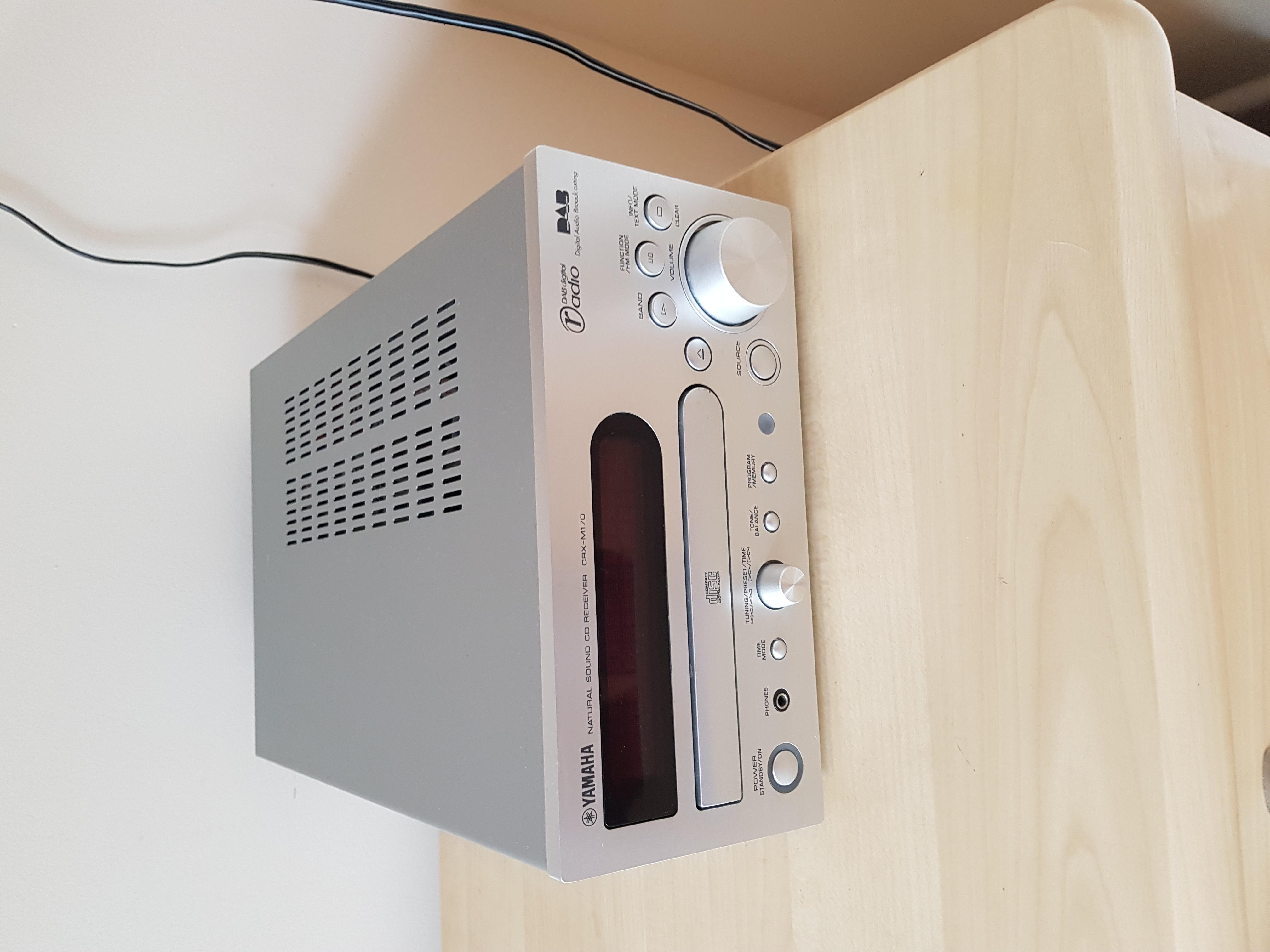 Yamaha cd dab player with demon speakers in Eastbourne