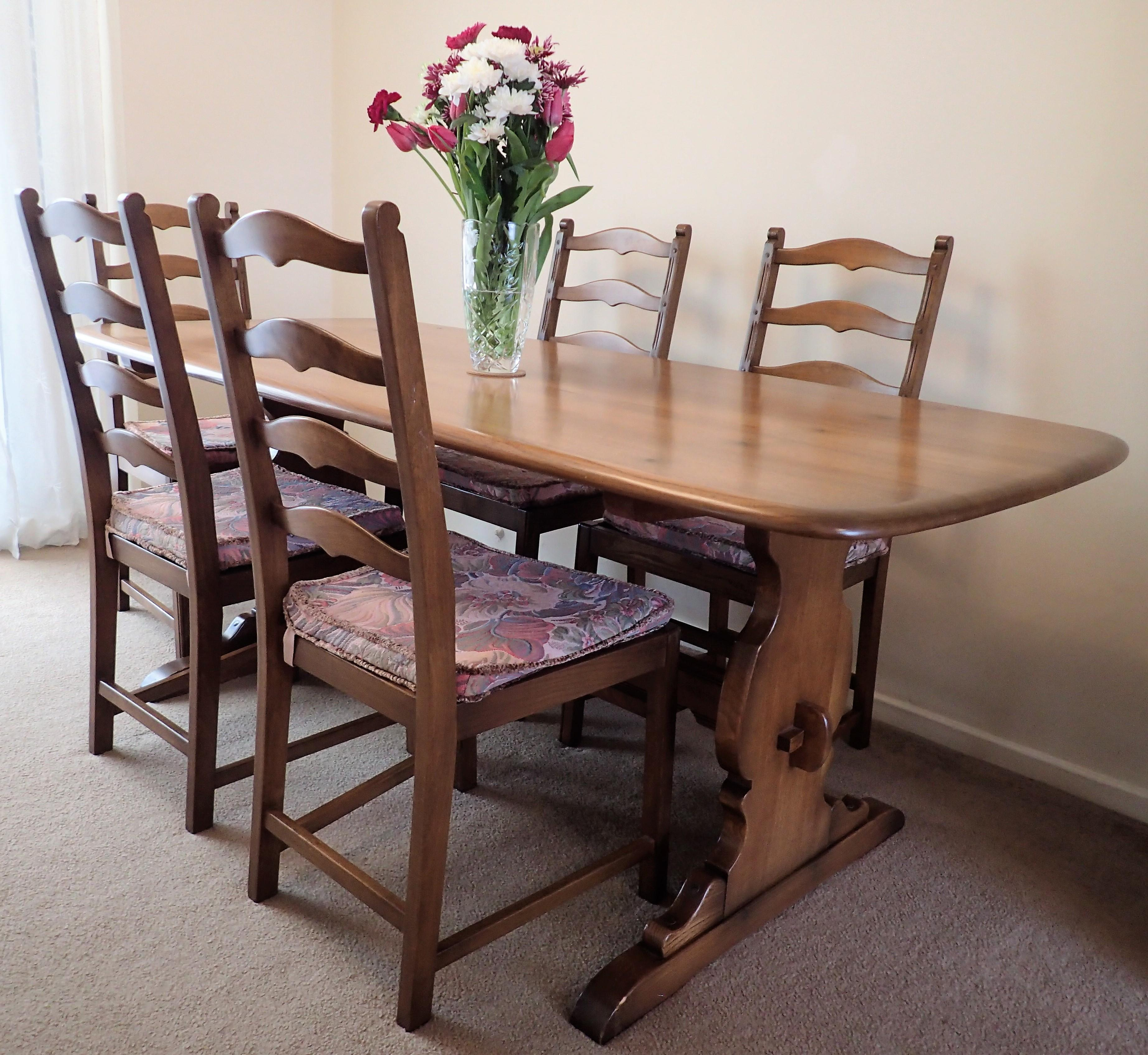 Groovy Ercol Dining Table With 5 Chairs In Guildford Sold Friday Ad Download Free Architecture Designs Salvmadebymaigaardcom