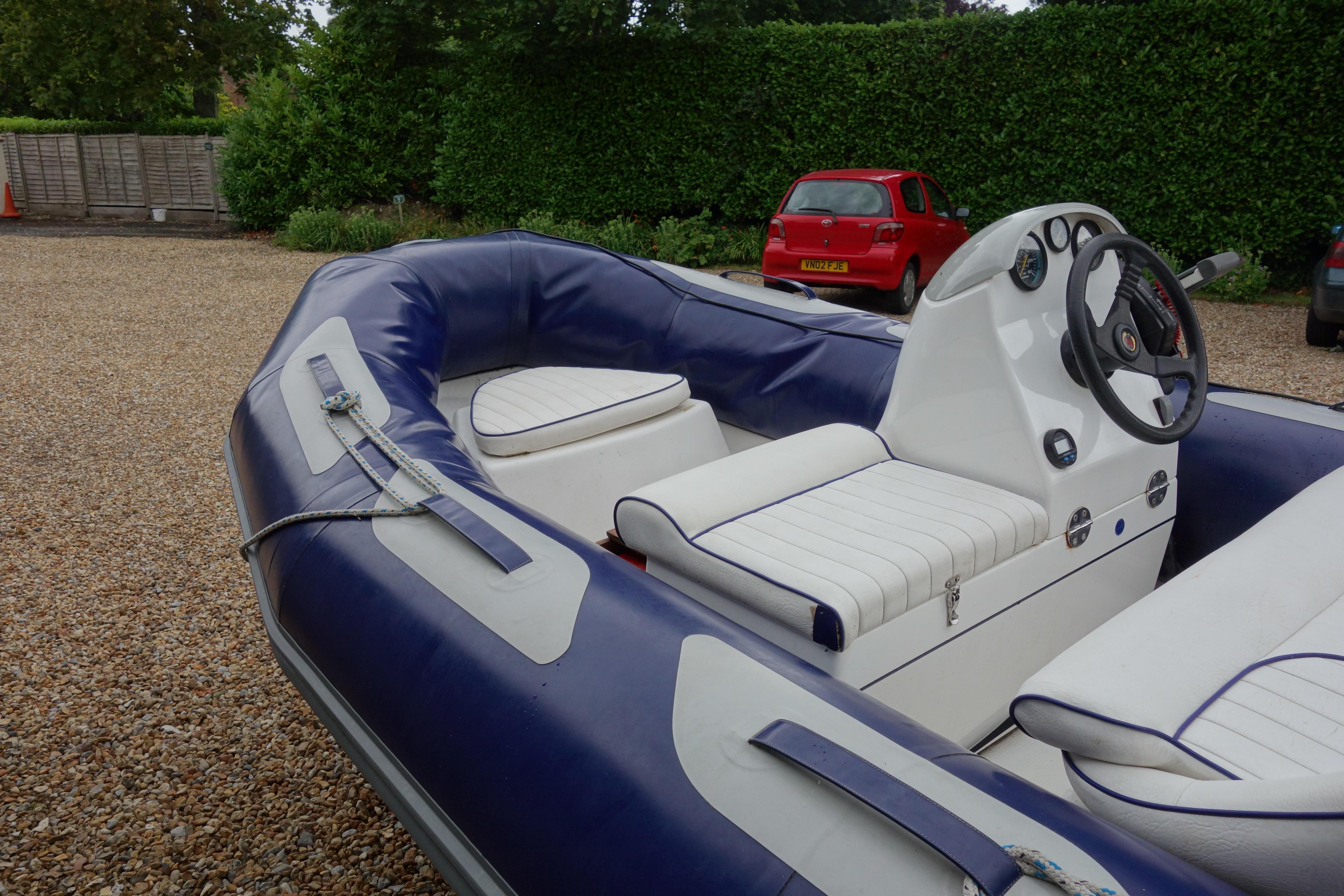 Boat - Avon RIB, Honda 50HP engine and trailer in Chichester