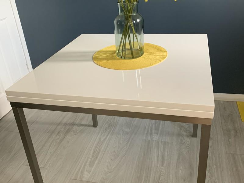 Dwell High Gloss White Extending Dining Table In Brighton
