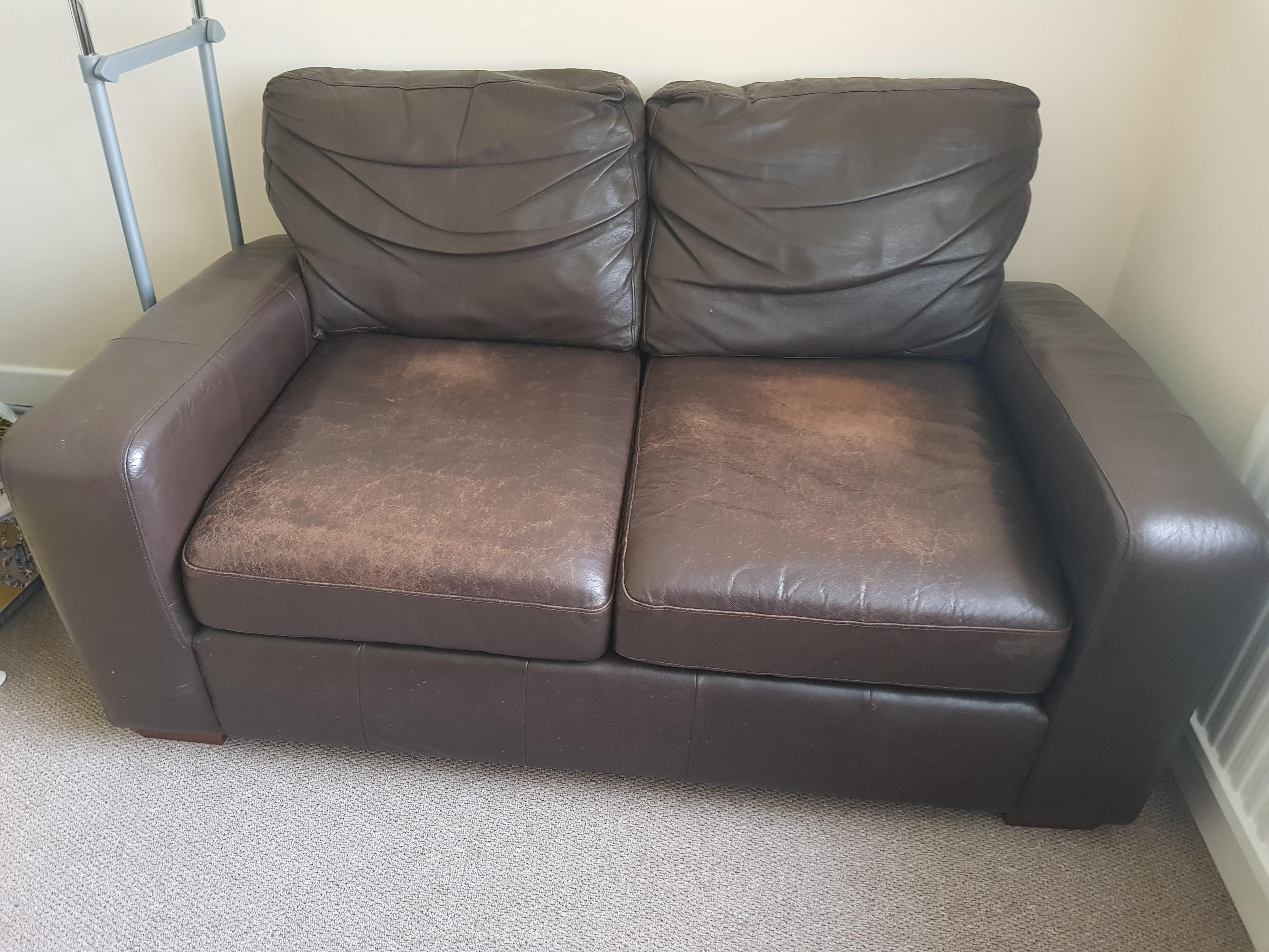 2 seater next brown leather sofa in Bristol   Friday-Ad