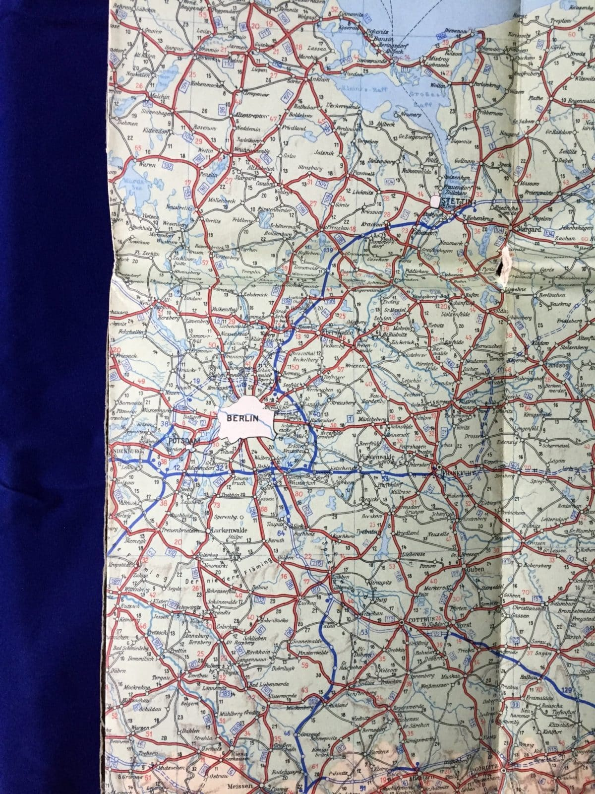 Map Of Germany In 1940.Ddac German Automobile Club 1940 Map Of Germany Fritz And Brits