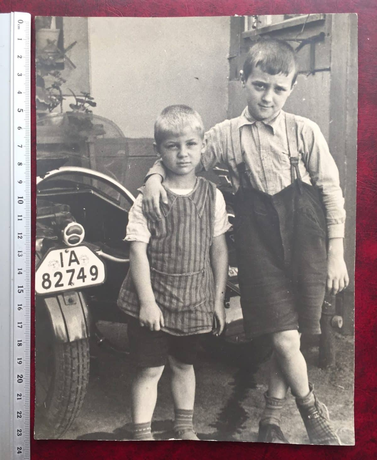 LOT of BIG family photos to inc GREAT pic of Motorbike Number Plate