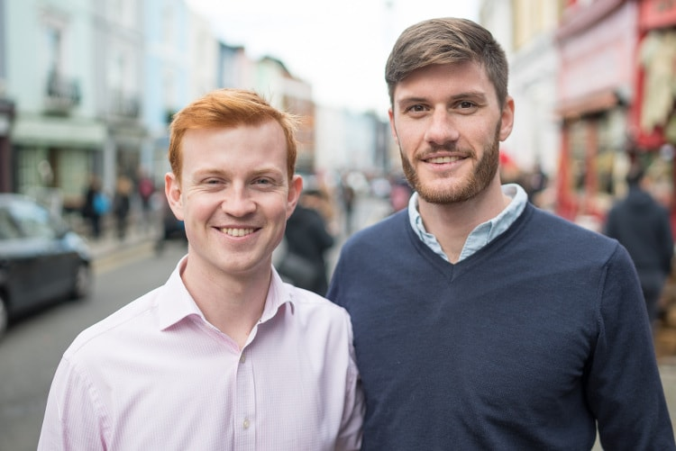 Switchd co-founders Thomas Rogers and Llewellyn Kinch