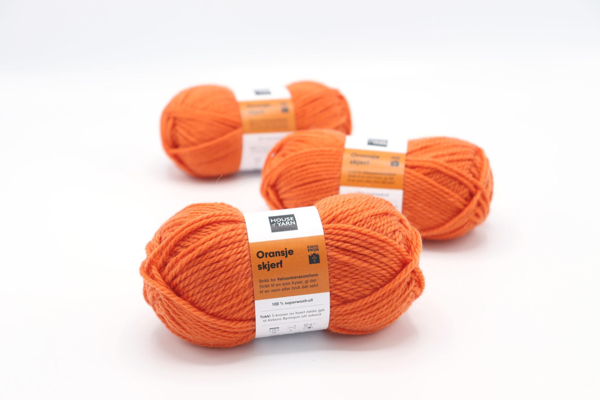 Oransje garn