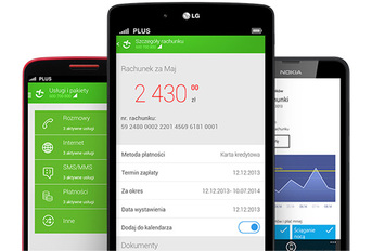Plus - aplikacja mobilna do zarządzania kontem klienta