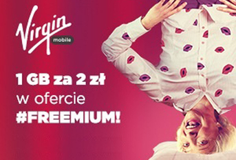 Virgin Mobile - 2zł za 1GB w pakiecie #FREEMIUM