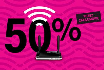 Internet mobilny w T-Mobile - 50% tańszy abonament