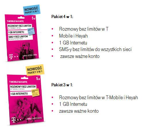 T Mobile Na Karte.T Mobile Nowe Pakiety Jump W Ofercie Na Kartę I Mix