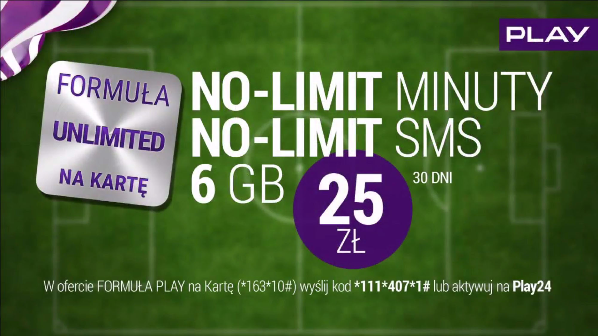 No Limit I 6 Gb Za 25 Zl Formula Unlimited Na Karte W Play