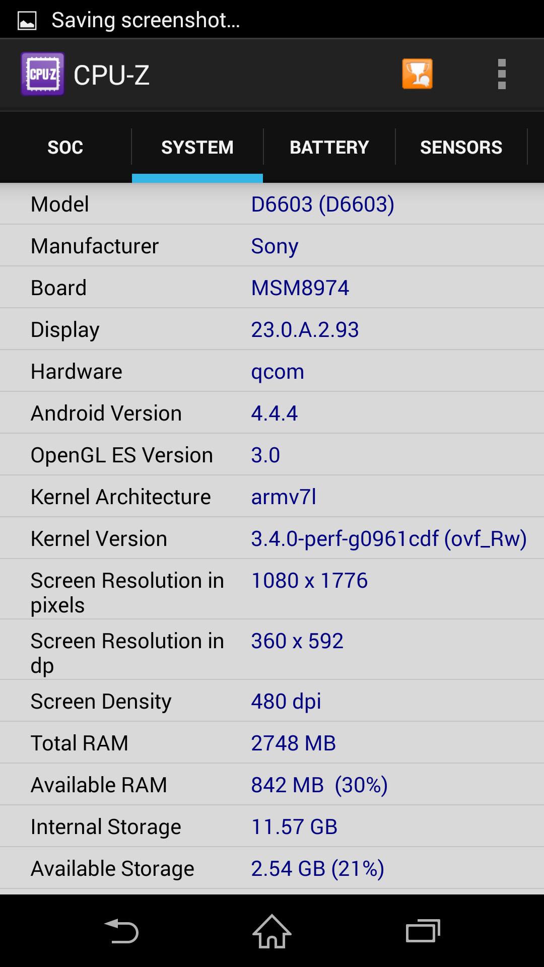 Test Sony Xperia Z3