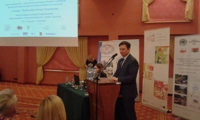 Minister Lasek podczas II Polsko-Białoruskiego Forum Turystycznego