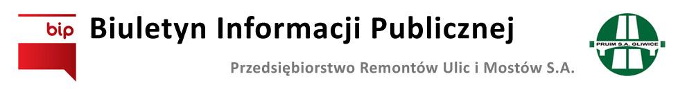 Biuletyn Informacji Publicznej - PRUIM Gliwice S.A.