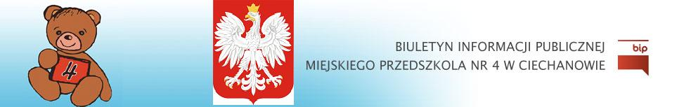 BIP Miejskiego Przedszkola nr 4 w Ciechanowie