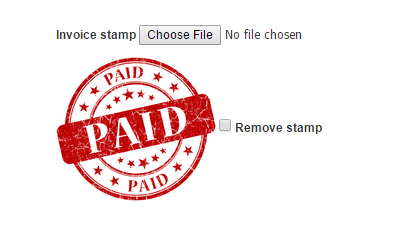 InvoiceOcean Support Invoice Stamp - Invoice paid stamp