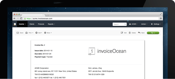 Online Invoices Invoicing Software Invoice Generating Online - Invoice software demo