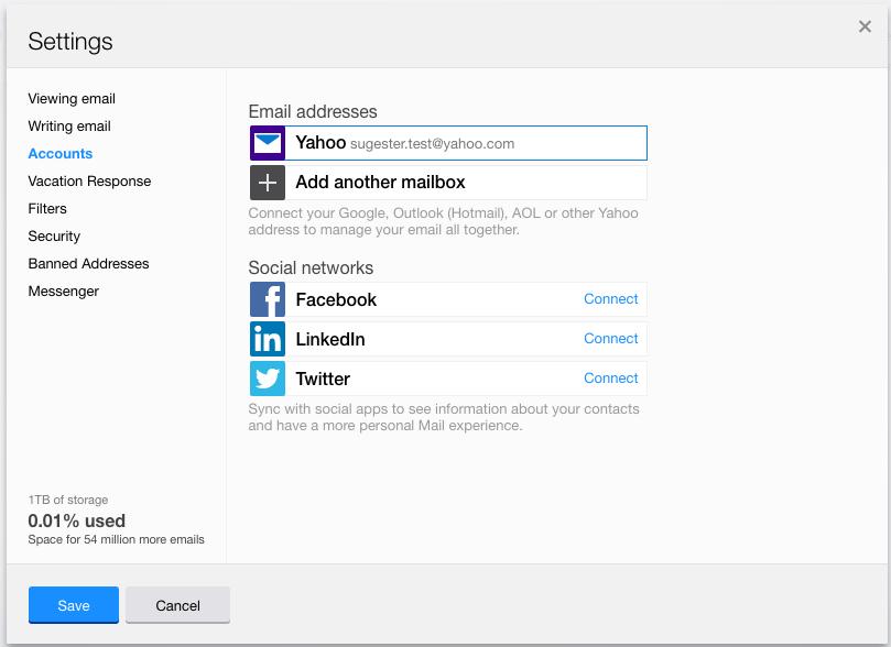 Sugester Help - Set up Yahoo e-mail forwarding