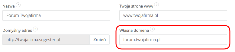 Zmiana adresu forum