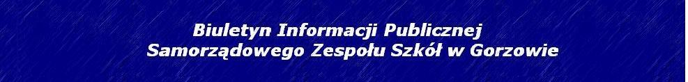 BIP Samorządowego Zespołu Szkół w Gorzowie