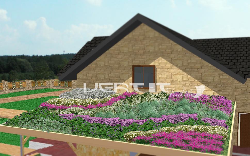 Ogród na dachu - projekt dachu zielonego - Projekty ogrodów Płońsk