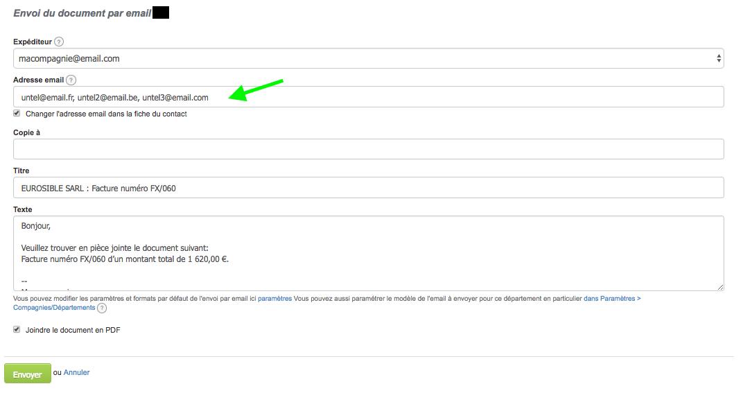 Envoi Document Facture Plusieurs Destinataires Email VosFactures.fr