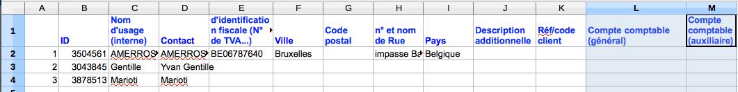 Exporter vers Excel Données Facture Fichiers Facture Facturation Exemple