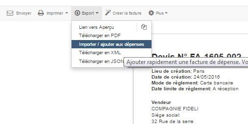 Suivi Dépense Achat Registre des Dépenses Facturation VosFactures.fr