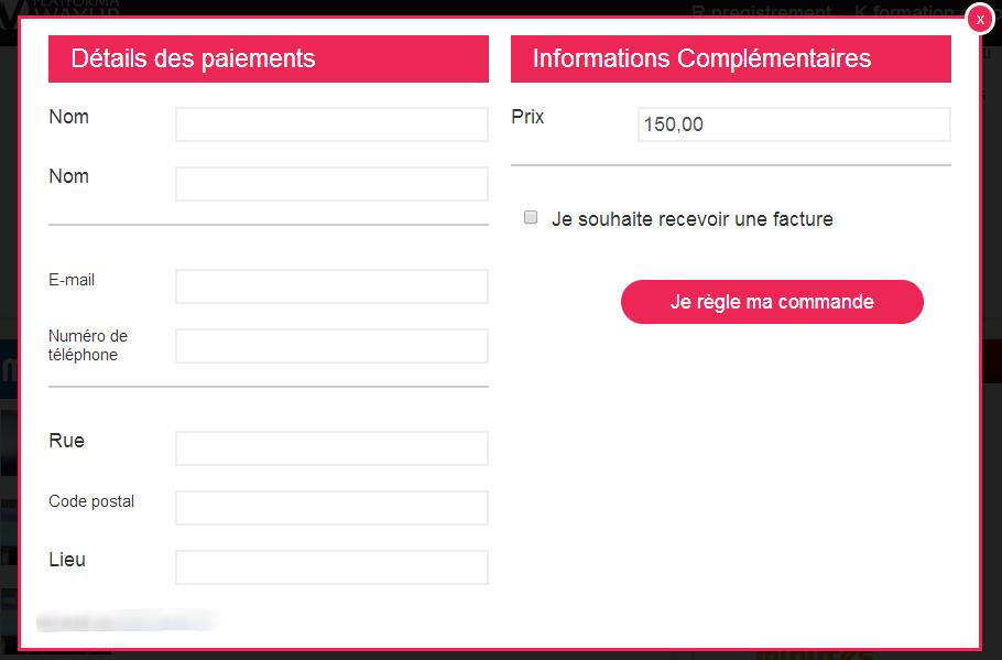 Formulaire de Paiement Ecommerce E-commerce Facturation Vente