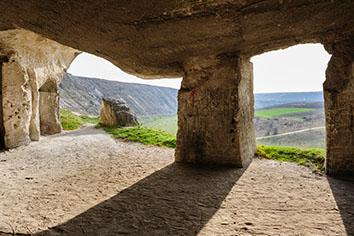 Abandoned limestone mines, old orhei, moldova