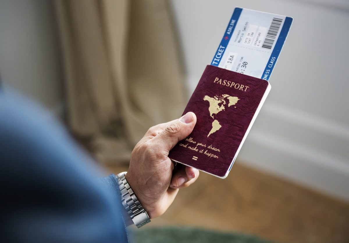 A passport someone got because of the visa help they sought
