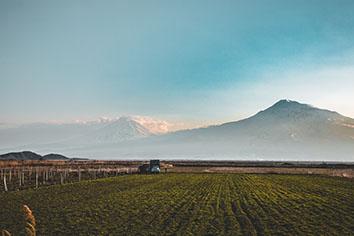 Ararat valley view from armenia Free