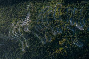 Kolli hills kollimalai seventy hairpin bends located in central tamil nadu, india