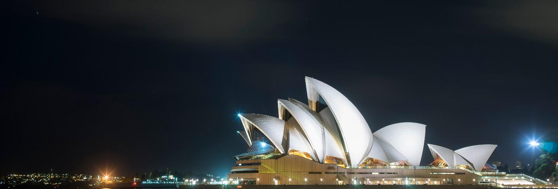 Beautiful scenic view of sydney opera house landmark of australia