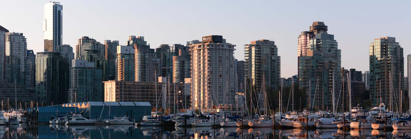 City skyline of vancouver, british columbia