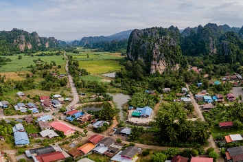 Thailand travel mountain from drone