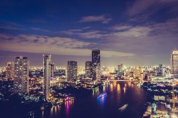 Bangkok city at night
