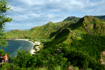 Hill and beach in timor leste