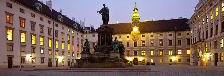 Night view hofburg palace. Vienna