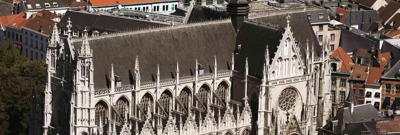 Notre dame du sablon cathedral in brussels