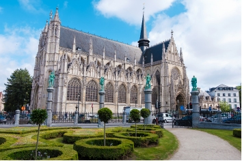 Church of our blessed lady in brussels, belgium