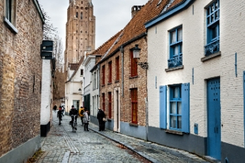 Ancient buildings in bruges