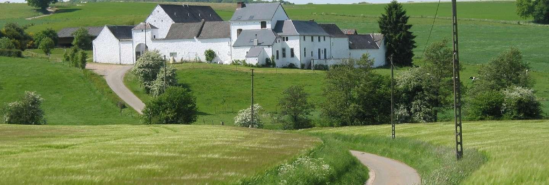 Farm house landscape landmark home fields belgium