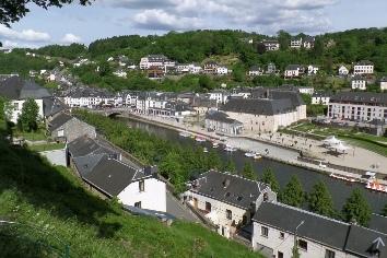 Stunning cityscape of bouillon along the semois river,