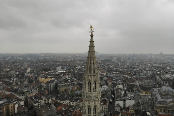 Amazing view from above. the capital of belgium. great brussels. very historical and touristic place. must see. view from drone. holy place, amazing rooftop