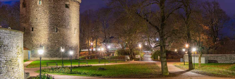 Old city tallinn at night