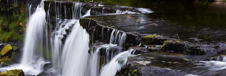 Beautiful waterfalls in keila-joa, estonia