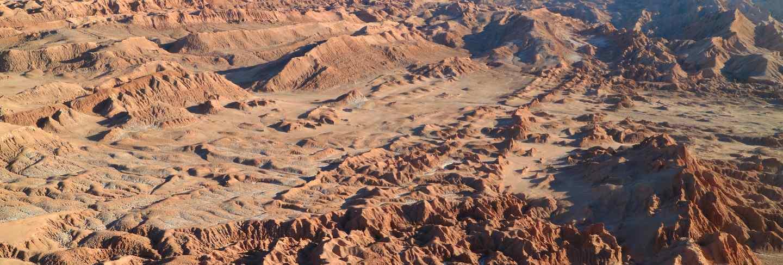 Amazing rock formations at valle de la luna or valley of the moon, atacama desert, chile