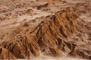 The mars valley, also know as death valley, in the atacama desert in chile